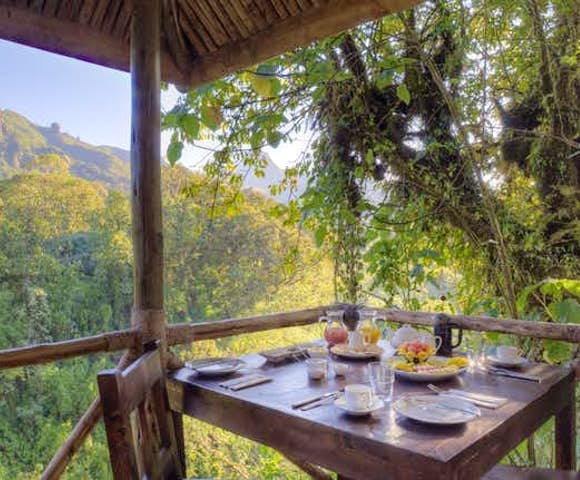 Breakfast served at Bale Mountains Lodge