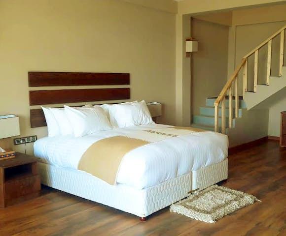 Double bedroom at Gondar Hills Resort