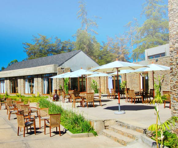 Outside dining area at Gondar Hills Resort