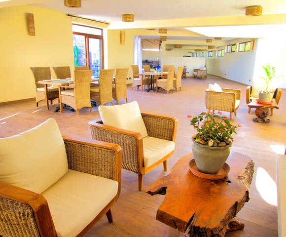 Inside dining area at Gondar Hills Resort