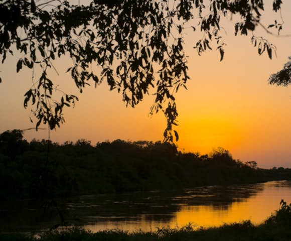 Sunset over the Omo river from Lales camp