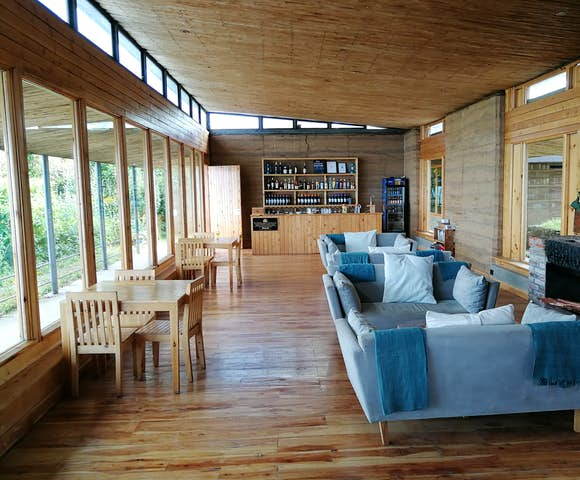 lounge and bar at Limalimo Lodge in the Simien Mountains