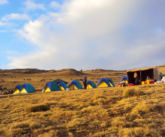 Campsite in the Simien Mountains