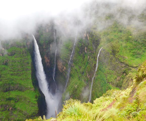 Waterfall in the Simien Mountains