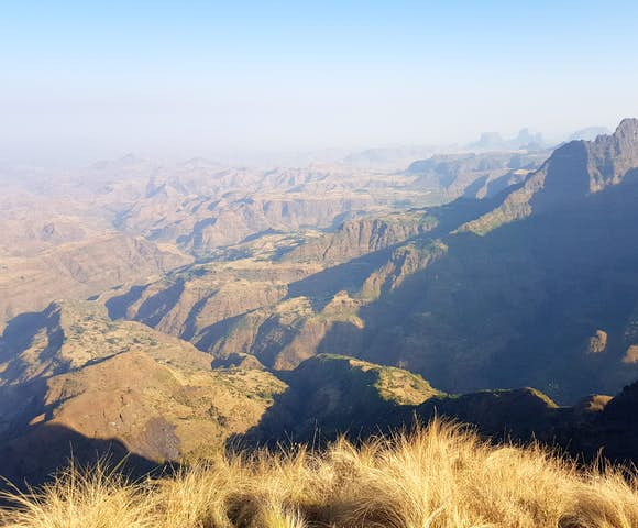Landscape view in the Simien Mountains