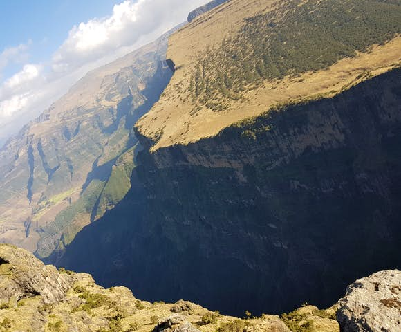 View of escarpment in the Simien Mountains