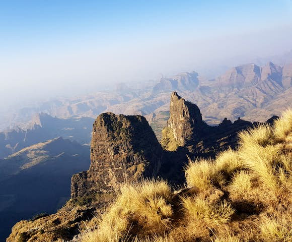 Landscape in the Simien Mountains