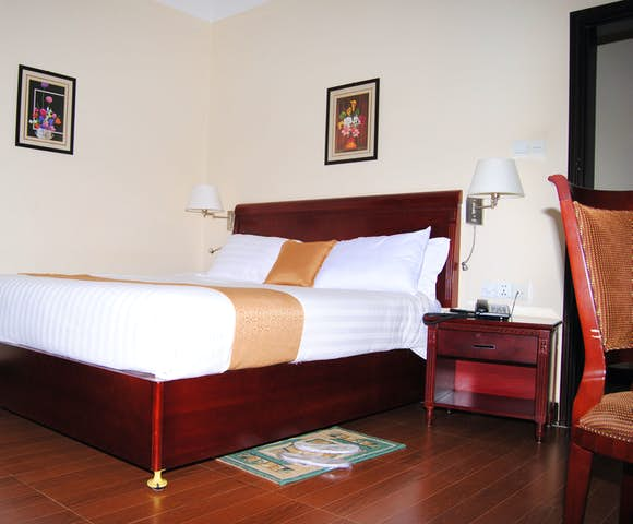 Double bedroom at Yared Zema Hotel